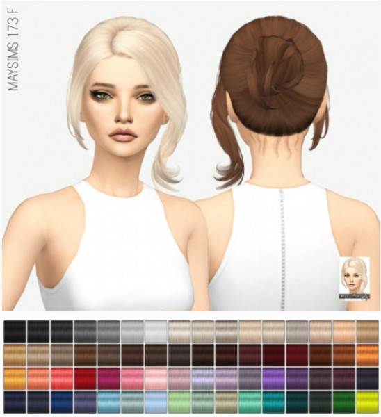 Miss Paraply: Maysims 173 F hair retextured for Sims 4