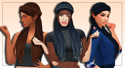 Weepingsimmer: Anto`s  Surrender Clayified hair for Sims 4