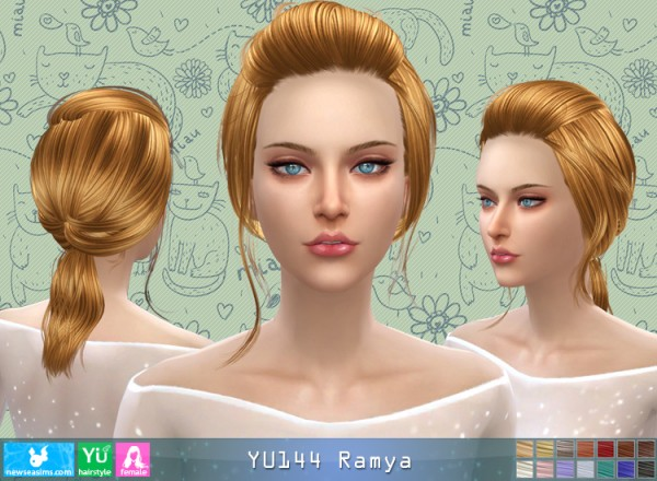 NewSea: YU144 Ramya hair for Sims 4