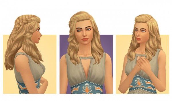 Simple Simmer: Isabele hair for Sims 4