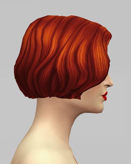 Rusty Nail: Female Medium wavy hair retextured for Sims 4