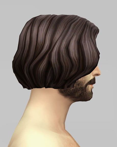 Rusty Nail: Male Medium wavy hair retextured for Sims 4