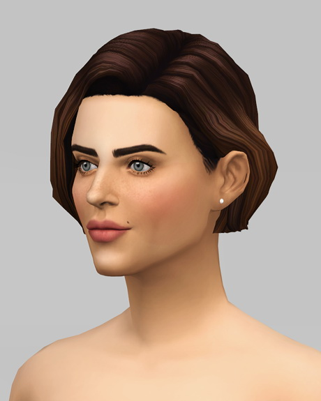 Rusty Nail: Female Medium wavy   ombre hair retextured for Sims 4