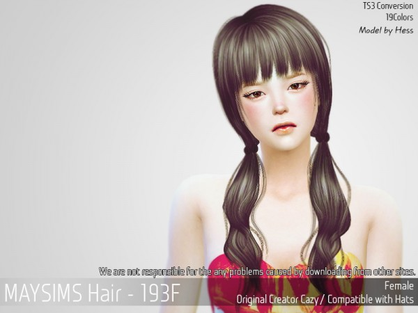 MAY Sims: May Hair 193F retextured for Sims 4