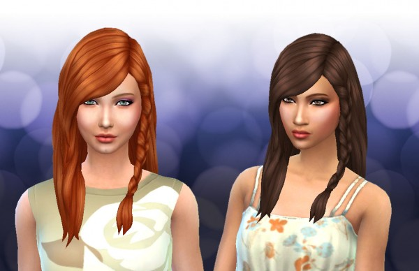 Mystufforigin: Messy Braid Conversion for Sims 4