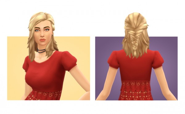 Simple Simmer: Sophie hair for Sims 4