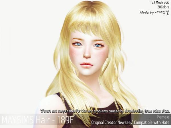 MAY Sims: May Hair189F for Sims 4