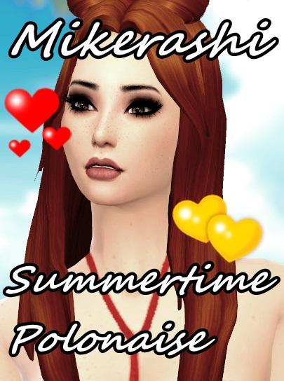 Mikerashi: Summertime Polonaise Hair for Sims 4