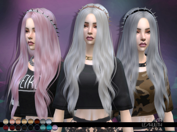 The Sims Resource: Shine Hair by LeahLillith for Sims 4