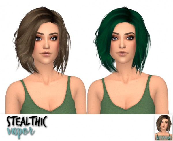 Nessa sims: Stealthic Captivated, Prisma and Vapor hairs retextured for Sims 4