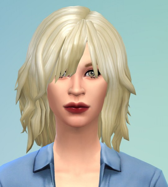 Birksches sims blog: Courtney Hairstyle for Sims 4