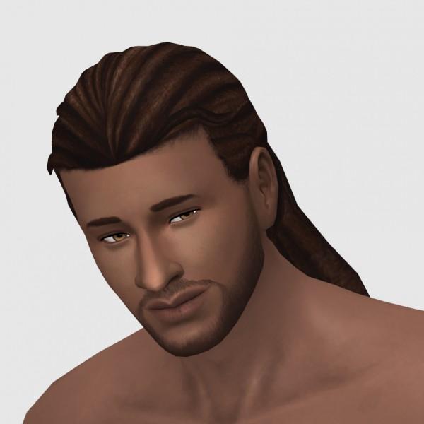 xldsimsdownloads: Braid Back Hair for Sims 4