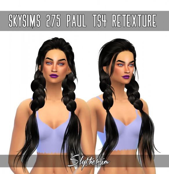 Slythersim: Skysims 275 Paul hair retextured for Sims 4