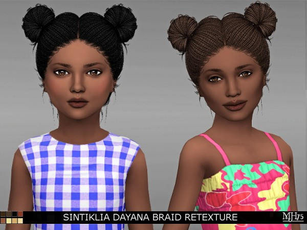 Sims Addiction: Sintiklia`s Dayana Braid Retextured by Margie Sims for Sims 4