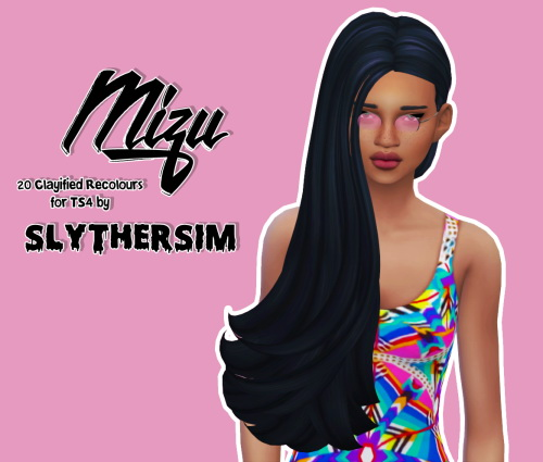 Slythersim: Skysims 259 Clayified hair recolours for Sims 4