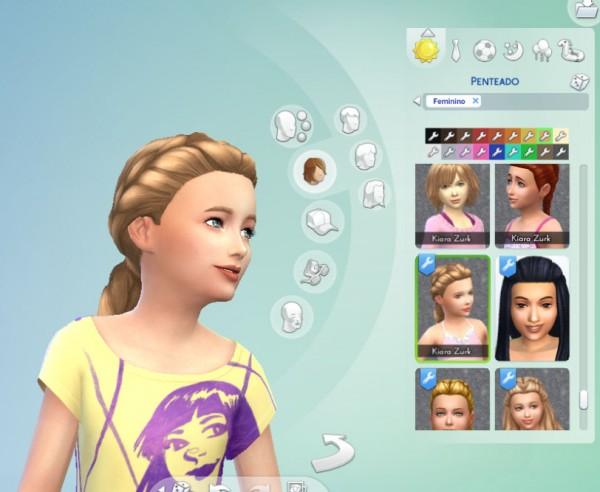 Mystufforigin: Sunshine Braid for Girls for Sims 4