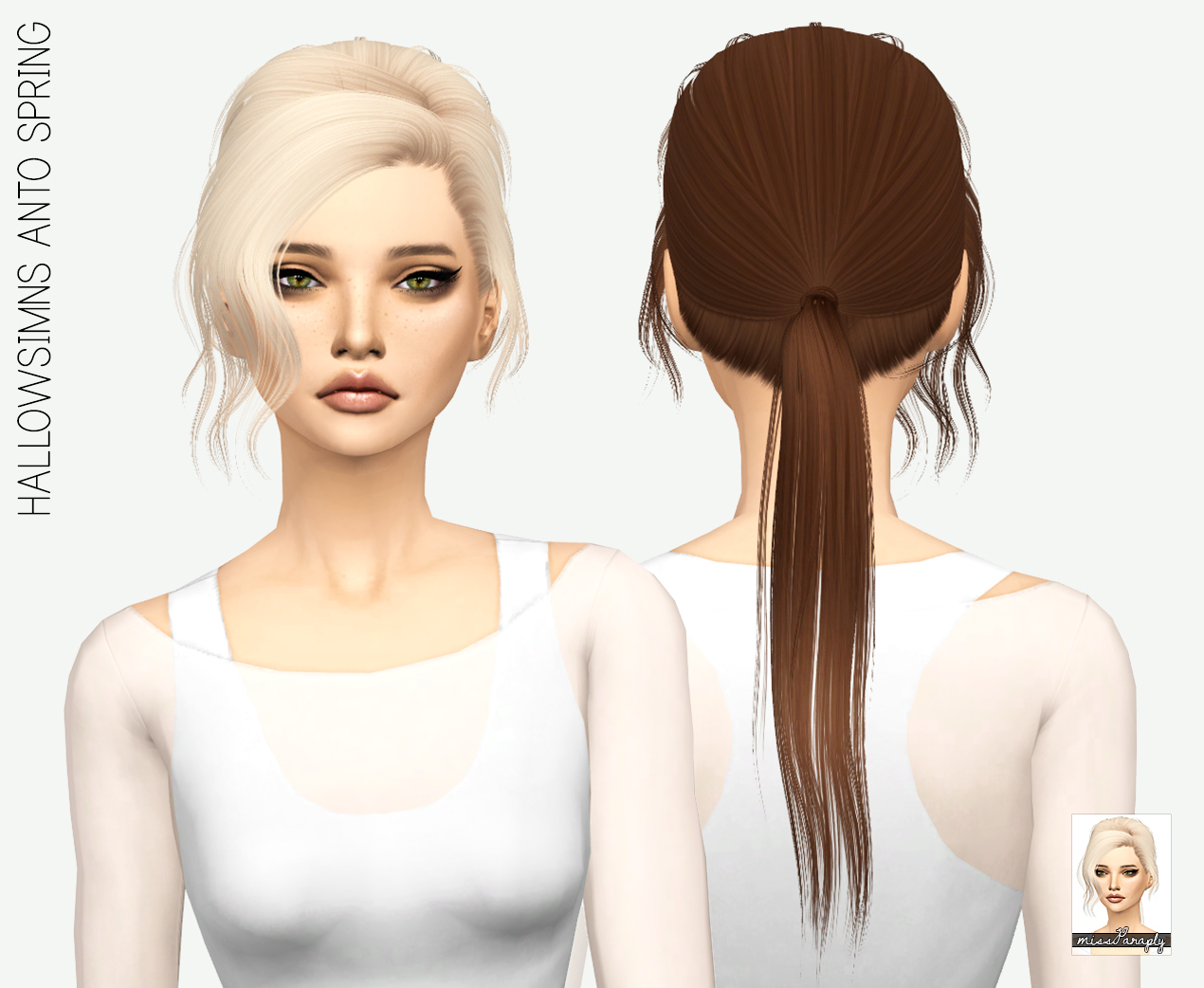 Sims 4 Hairs ~ Miss Paraply: Anto`s Spring hair retextured