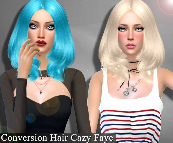 Genius6613: Cazy`s Faye hair conversion for Sims 4