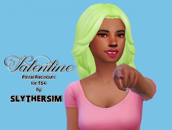 Slythersim: Kiara's Valentine Gift Hair retextured for Sims 4