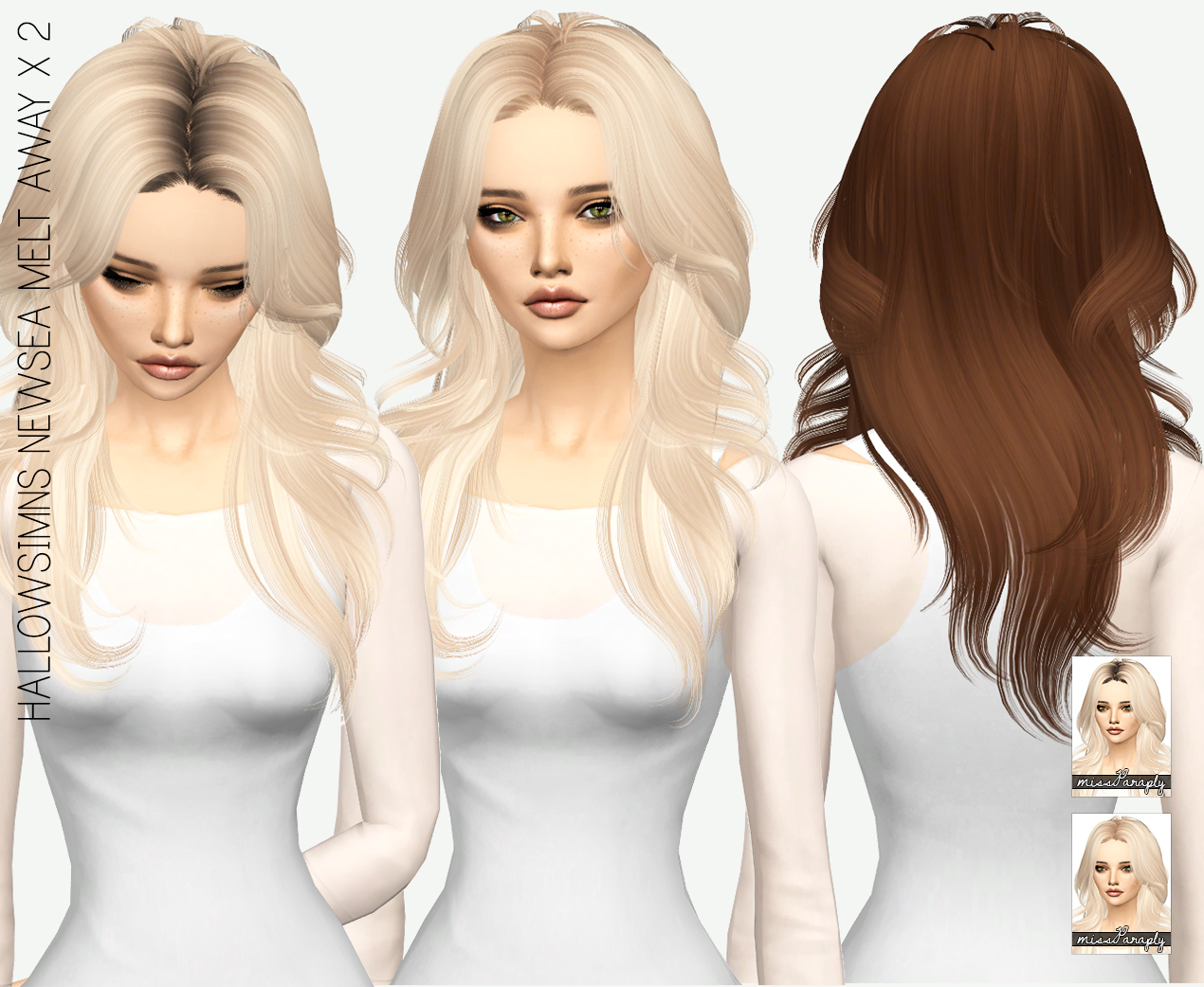 Sims 4 Hairs ~ Miss Paraply: Newsea`a Melt Away hair ...