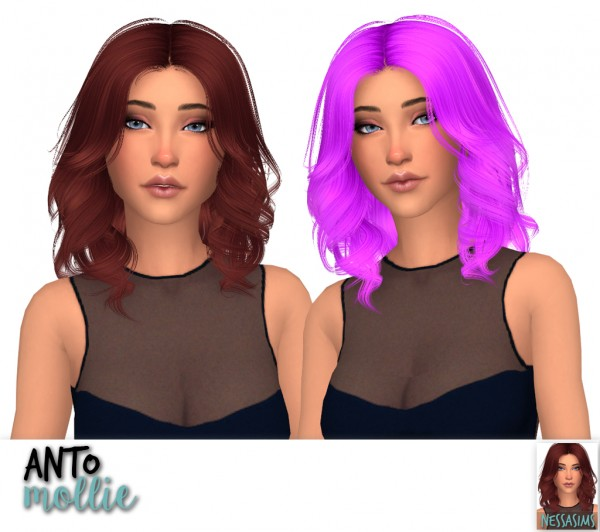 Nessa sims: Anto`s glare,heartbeat,hide,mollie,nana and roses hair retextured for Sims 4