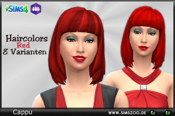 Blackys Sims 4 Zoo: Hair Color Red by Cappu for Sims 4