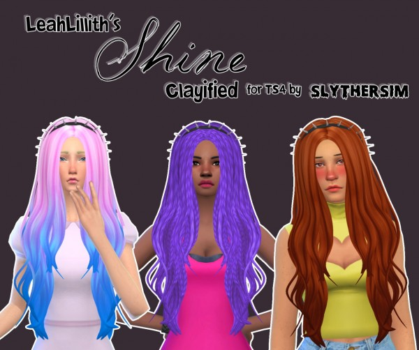Slythersim: Leahlillith`s Shine hair retextured for Sims 4