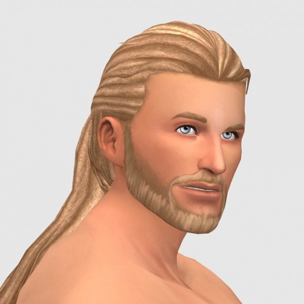 xldsimsdownloads: Braid Back Hair for Sims 4