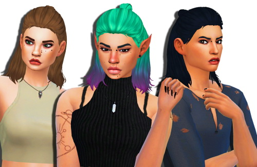 Weepingsimmer: Nightcrawler`s Thunder Hair Clayified   500 Followers Gift (Part Three) for Sims 4