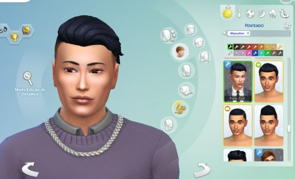 Mystufforigin: Shaved Silk Wavy for Sims 4
