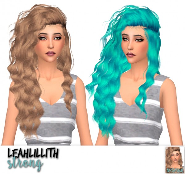 Nessa sims: Leahlillith`s Heartburn, Souls, Strong and Universe hair retextiured for Sims 4