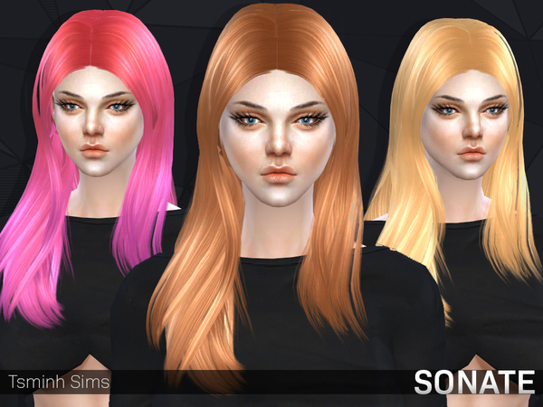 The Sims Resource: SONATE  Hair 10 by Tsminh for Sims 4
