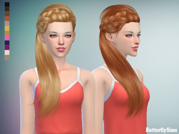 Butterflysims: Hair JO 162F for Sims 4