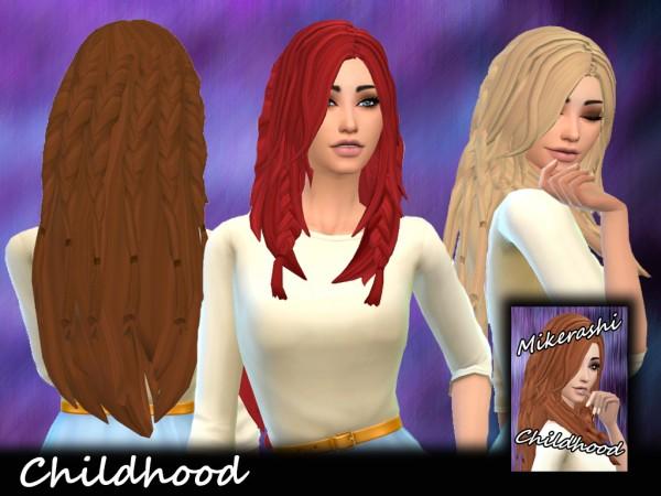 Mikerashi: Childhood Hair for Sims 4