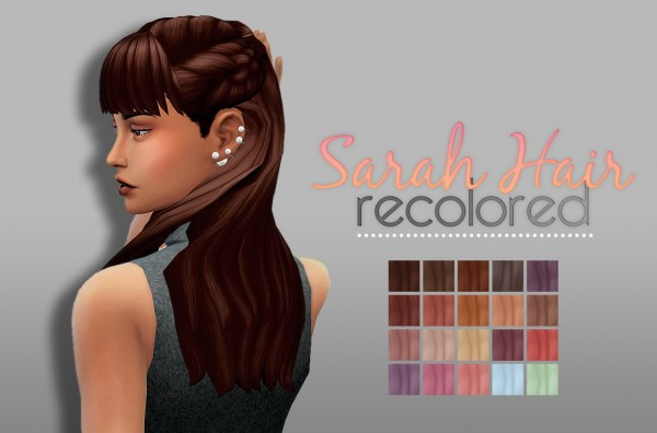 Whoohoosimblr: Sarah Hair recolored for Sims 4