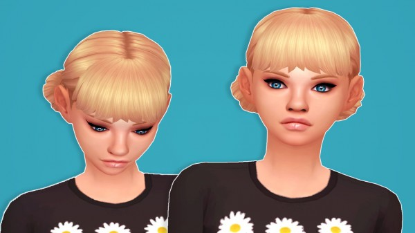 Butterscotchsims: Daisy hair for Sims 4