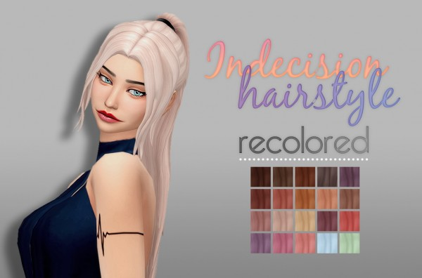 Whoohoosimblr: Indecision Hair for Sims 4