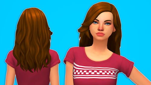 Butterscotchsims: Tulip hair for Sims 4