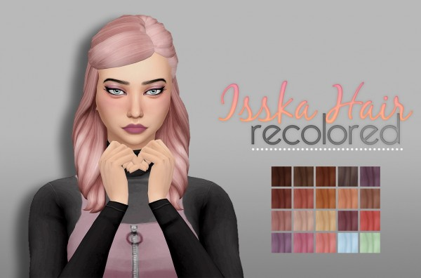 Whoohoosimblr: Isska hair recolored for Sims 4
