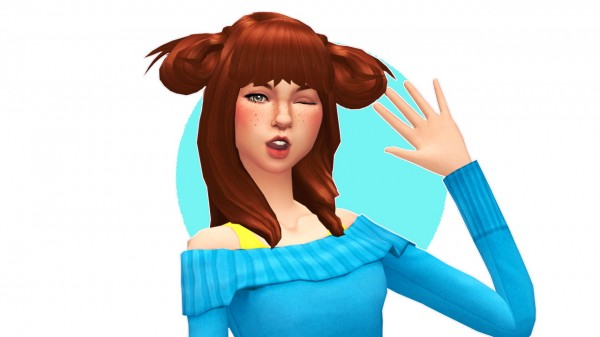 Sul Sul: Puppy Ears Hair for Sims 4