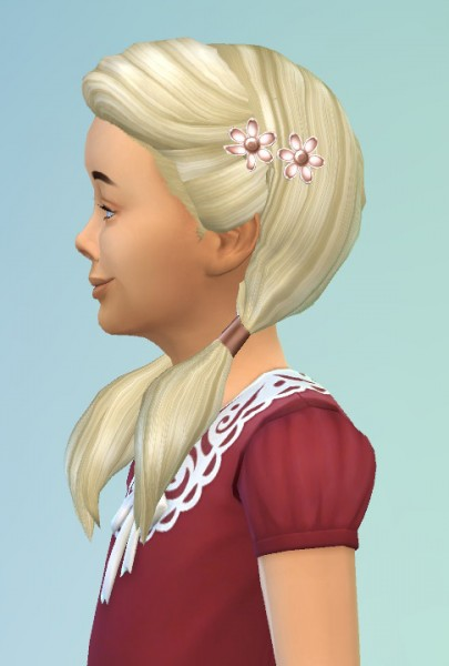 Birksches sims blog: Girlys Flower Hair for Sims 4