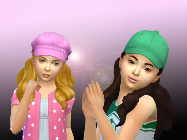 Mystufforigin: Pulled Up Curls for Girls for Sims 4