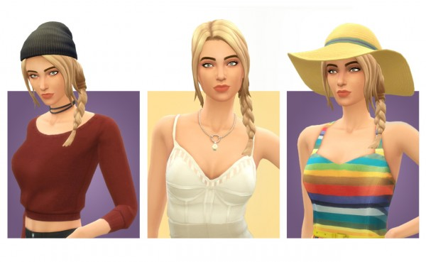 Simple Simmer: Emory hair for Sims 4