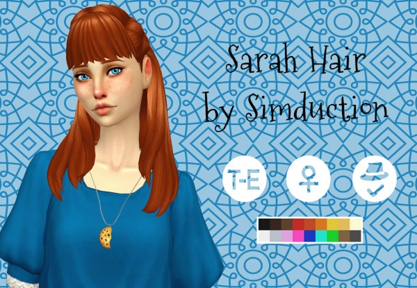 Simduction: Sarah hair for Sims 4