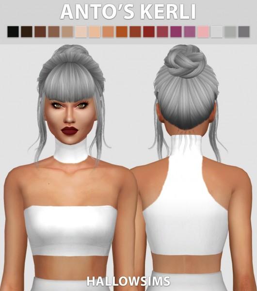 Hallow Sims: Anto's Kerli hair retextured for Sims 4