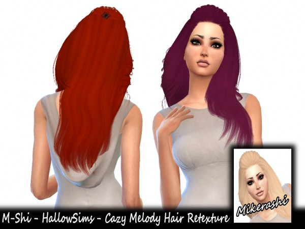 Mikerashi: Cazy`s Melody Hair Retextured for Sims 4