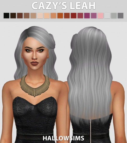 Hallow Sims: Cazy's Leah hair retextured for Sims 4