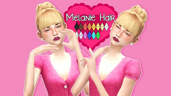 Sul Sul: Melanie Hair for Sims 4