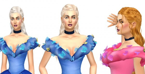 Sims Fun Stuff: Newsea Darcarys hair retextured for Sims 4