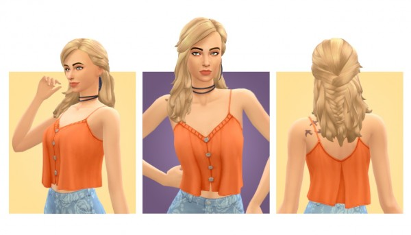 Simple Simmer: Julia hair for Sims 4